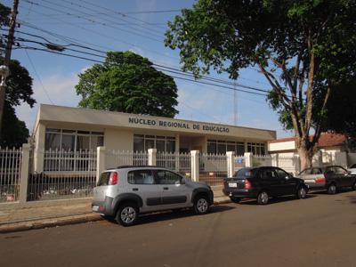 Foto da fachada do N�cleo de Cianorte