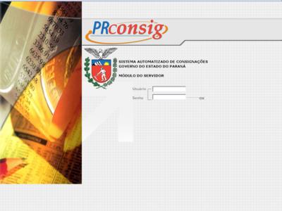 Página Inicial do PRconsig