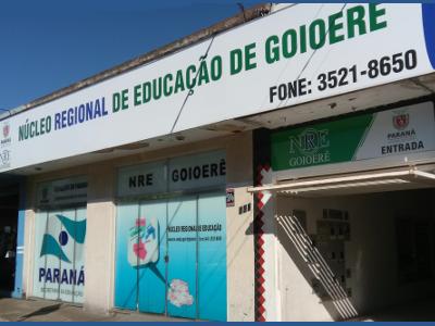 Foto da fachada do núcleo de Goioerê