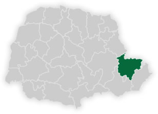 mapa do núcleo regional de educação da área metropolitana norte