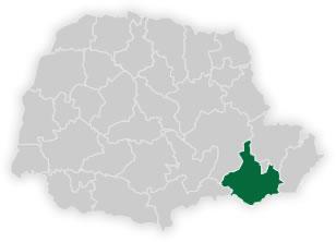 mapa do n�cleo regional de educa��o da �rea metropolitana sul