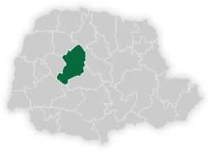 mapa do núcleo regional de educação de campo mourão
