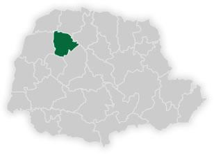mapa do n�cleo regional de educa��o de cianorte