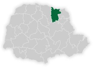 mapa do n�cleo regional de educa��o de corn�lio proc�pio