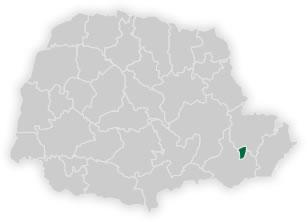 mapa do n�cleo regional de educa��o de curitiba