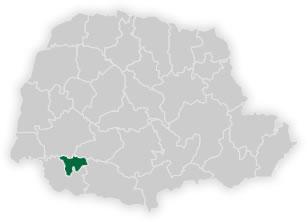 mapa do n�cleo regional de educa��o de dois vizinhos