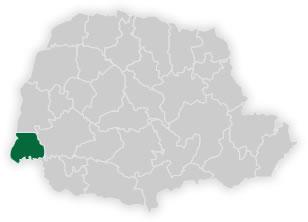mapa do núcleo regional de educação de foz do iguaçu