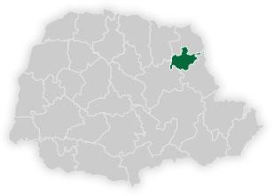mapa do núcleo regional de educação de ibaiti