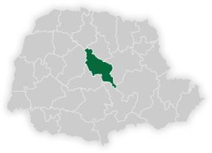 mapa do n�cleo regional de educa��o de ivaipor�