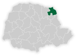 mapa do n�cleo regional de educa��o de jacarezinho