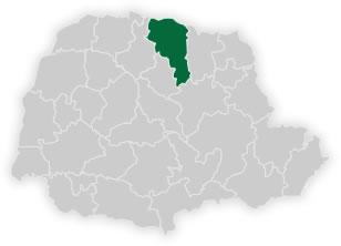 mapa do n�cleo regional de educa��o de londrina