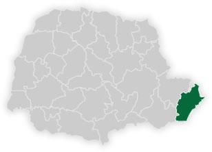 mapa do n�cleo regional de educa��o de paranagu�