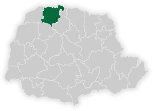 mapa do n�cleo regional de educa��o de paranava�