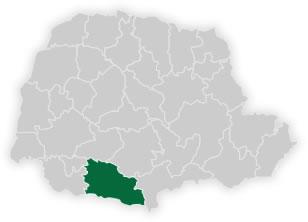 mapa do núcleo regional de educação de pato branco