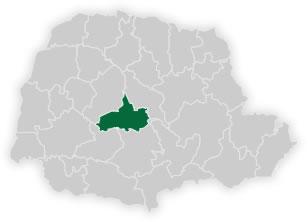 mapa do n�cleo regional de educa��o de pitanga