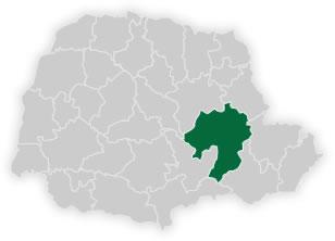 mapa do n�cleo regional de educa��o de ponta grossa