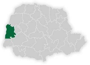 mapa do n�cleo regional de educa��o de toledo