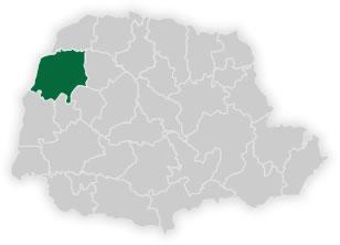 mapa do n�cleo regional de educa��o de umuarama