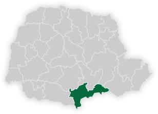 mapa do n�cleo regional de educa��o de uni�o da vit�ria