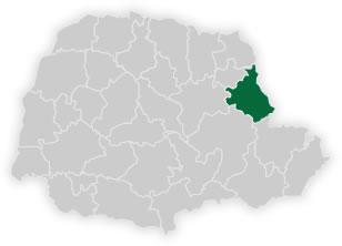 mapa do núcleo regional de educação de wenceslau braz