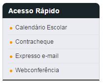 menu de acesso rápido