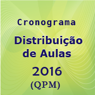 cronograma distribui��o de aulas