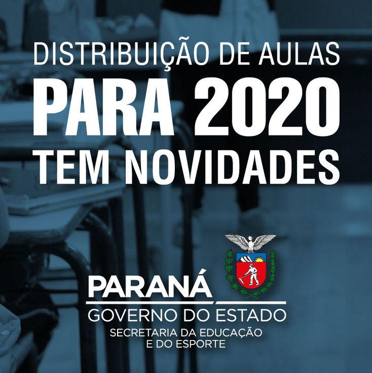 Distribuição de aulas 2020