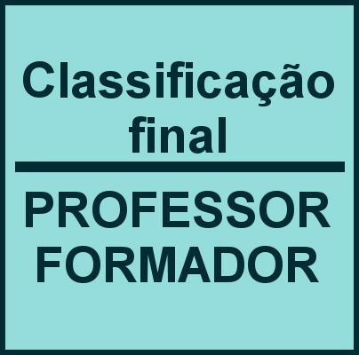 Classificação final professor formador 2020