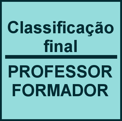 Classificação final professor formador 2020