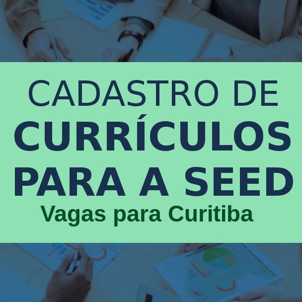 Cadastramento currículos Seed